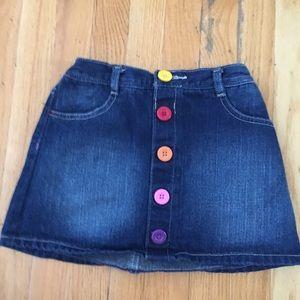 Girl's denim skirt, size XL